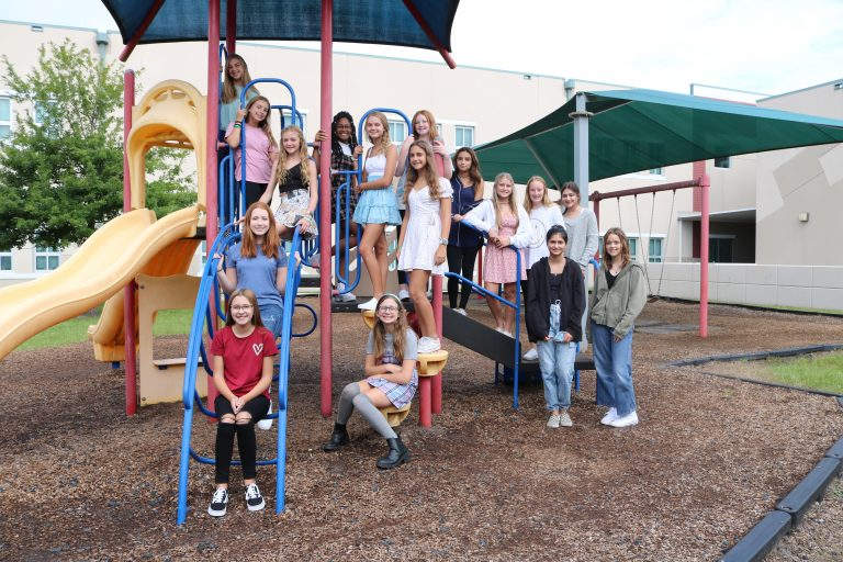 Middle school on playground equipment - 2021-2022